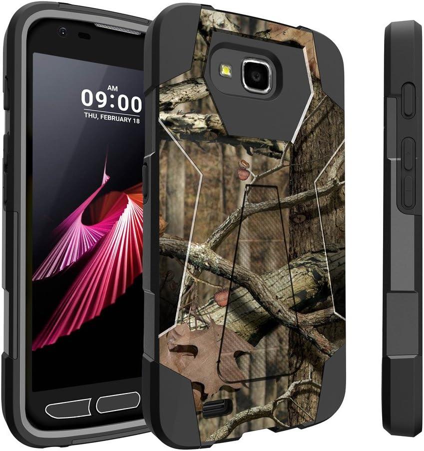 Untouchble Case for LG X Calibur Case Camo Case| LG X Venture, LG V9 Case [Traveler Series] Shockproof Hybrid 2 Layer Case with Kickstand Case - Real Hunter Camo