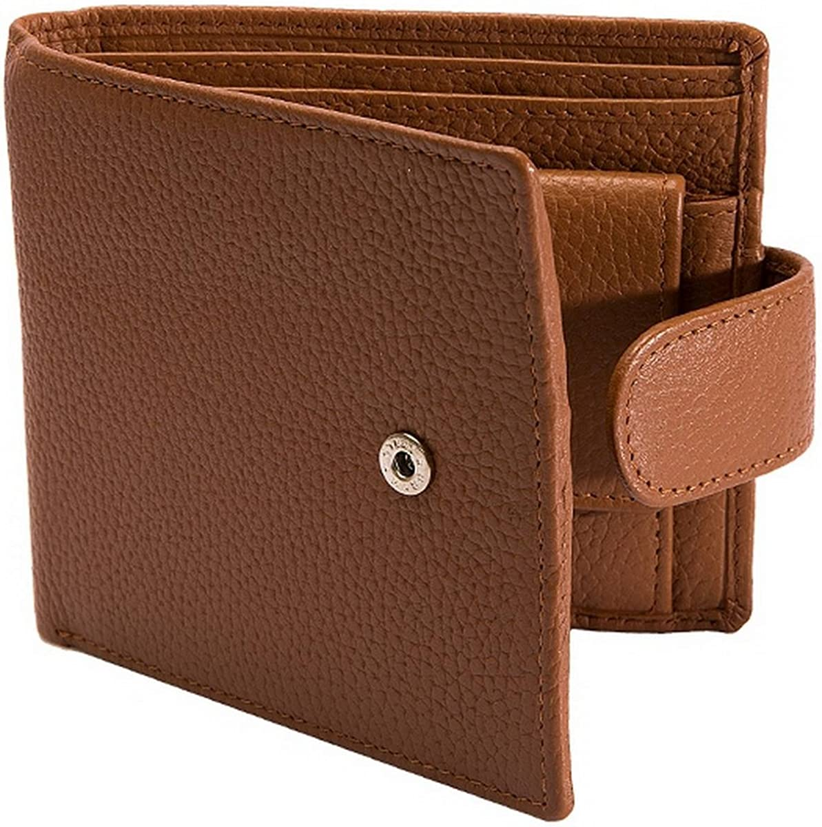 B075KBZSYH Dents Mens Pebble Grain RFID Stud Bifold Wallet - Cognac 71ol0xxcd3L