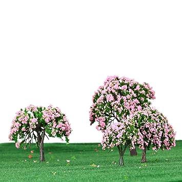 GoolRC 4 Stück Kunststoff Modell Bäume Zug Layout Garten Landschaft ...