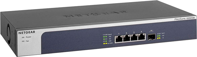 Netgear 5 Port 10g Multi Gigabit Ethernet Unmanaged Switch Xs505m With 1 X 10g Sfp Desktop Rackmount And Prosafe Lifetime Protection Amazon Ca Computers Tablets