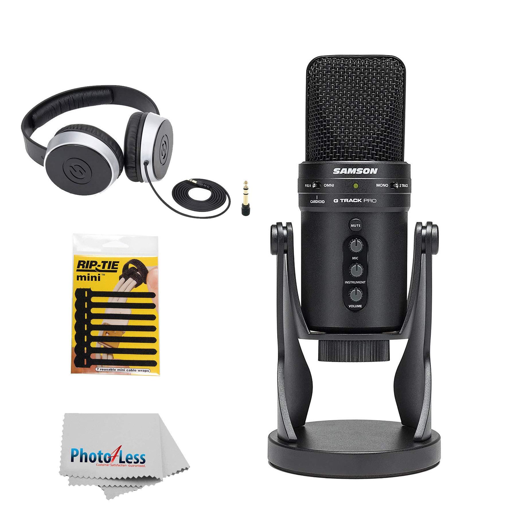 Samson G-track Pro Microfono Usb Profesional Con Interfaz De Audio Y Soporte De Choque + Auriculares + Paquete De 7 De M