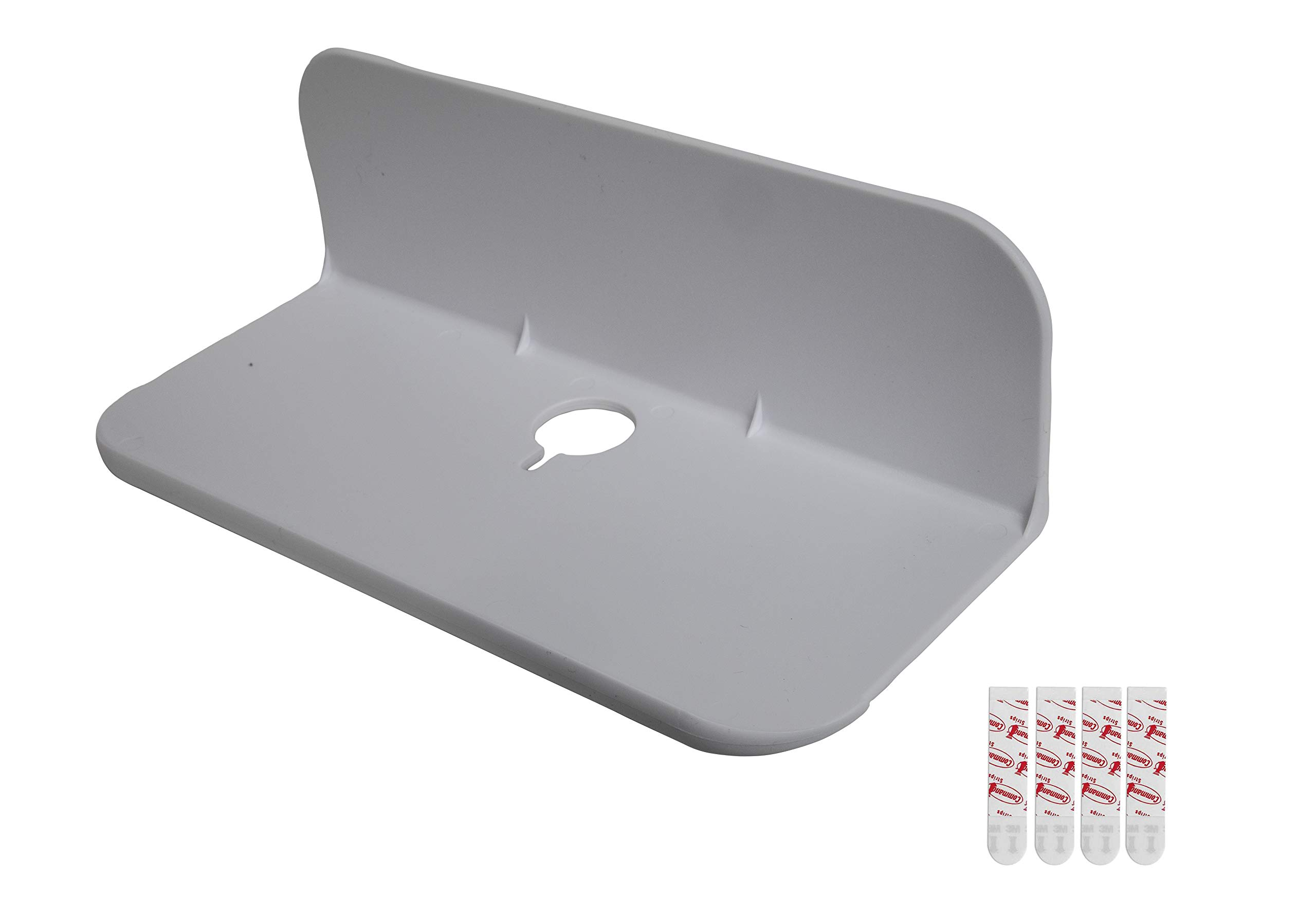 eLhook White 9 Inch Small Bathroom Shelf