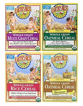 Amazon Com Earth S Best Organic Baby Cereal Bundle Variety Pack