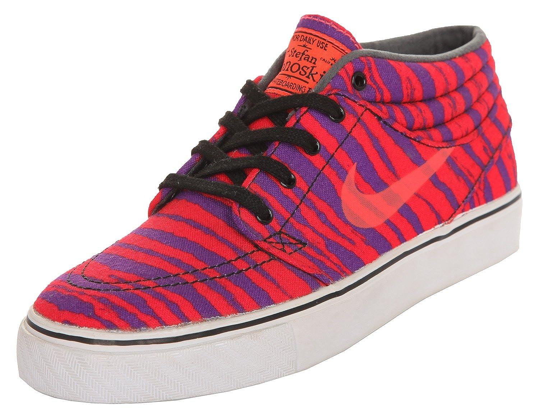Nike SB Herren Sneakers Stefan Janoski Mid Prm Neon Orange Lila 642061 651