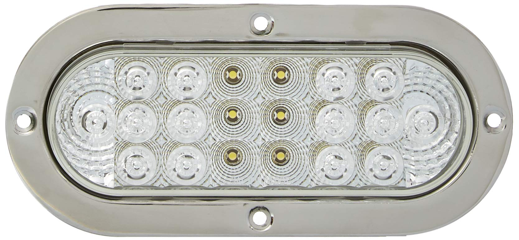 GG Grand General 77022 Oval Low Profile Spyder White Led Light with S.S. Rim & Pigtail by GG Grand General