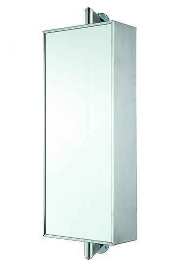 Spiegelschrank Badezimmerschrank Badschrank Drehbar Aus Edelstahl