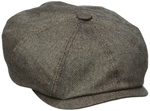 775ddd7b Stetson Men's Cashmere Blend 8/4 Cap with Silk Lining, Brown, Large