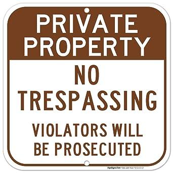 Amazon.com: Signos de propiedad privada, no se decolora, 12 ...