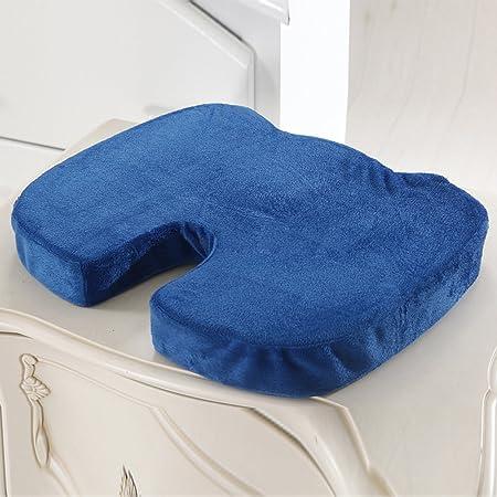 Cojín para silla HomDSim de espuma viscoelástica ortopédica para el coxis, para utilizar en la oficina, el hogar, el coche