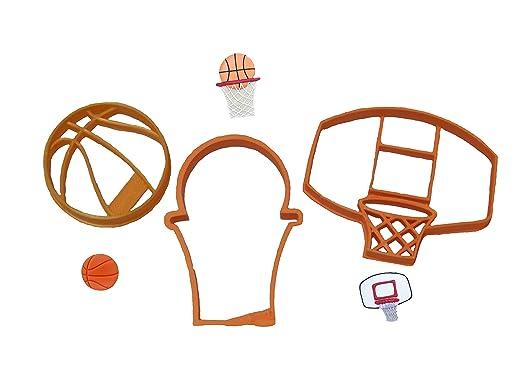 Moldes para galletas de baloncesto, aro/tablero y baloncesto en ...