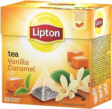 Lipton - Té Vainilla Y Caramelo, 20 x 1.7 gr - [Pack de 12 ...