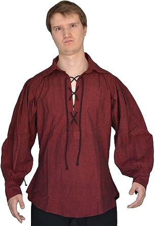 HEMAD Camisa Landsknecht de hombre medieval - Cordón ...