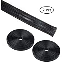 Set of 54 findTop 20 inch Flexible Cable Sleeve Wrap Cover Organizer and Reusable Fastening Cable Ties Cable Management Sleeves with Cable Ties