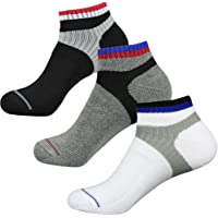 3 Pairs Men's Socks Running No Show Socks Low Cut Performance Athletic Cushion Sock
