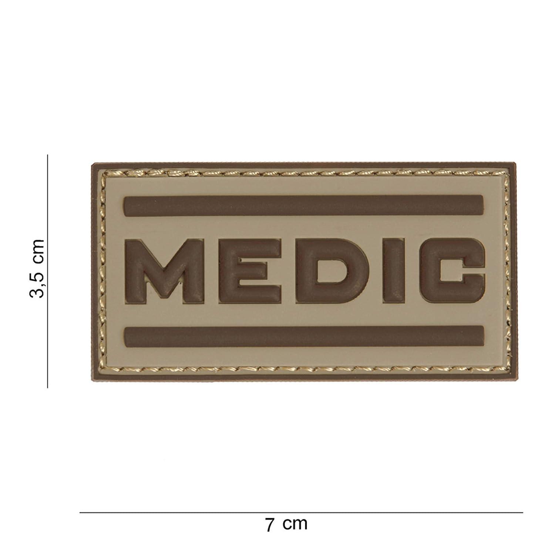 Tactical Attack Medic Coyote braun Softair Sniper PVC Patch Logo Klett inkl gegenseite zum aufn/ähen Paintball Airsoft Abzeichen Fun Outdoor Freizeit