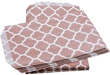 100% Mosel 24 bolsas de papel Casablanca, Oro Rosa, 12,7 x ...