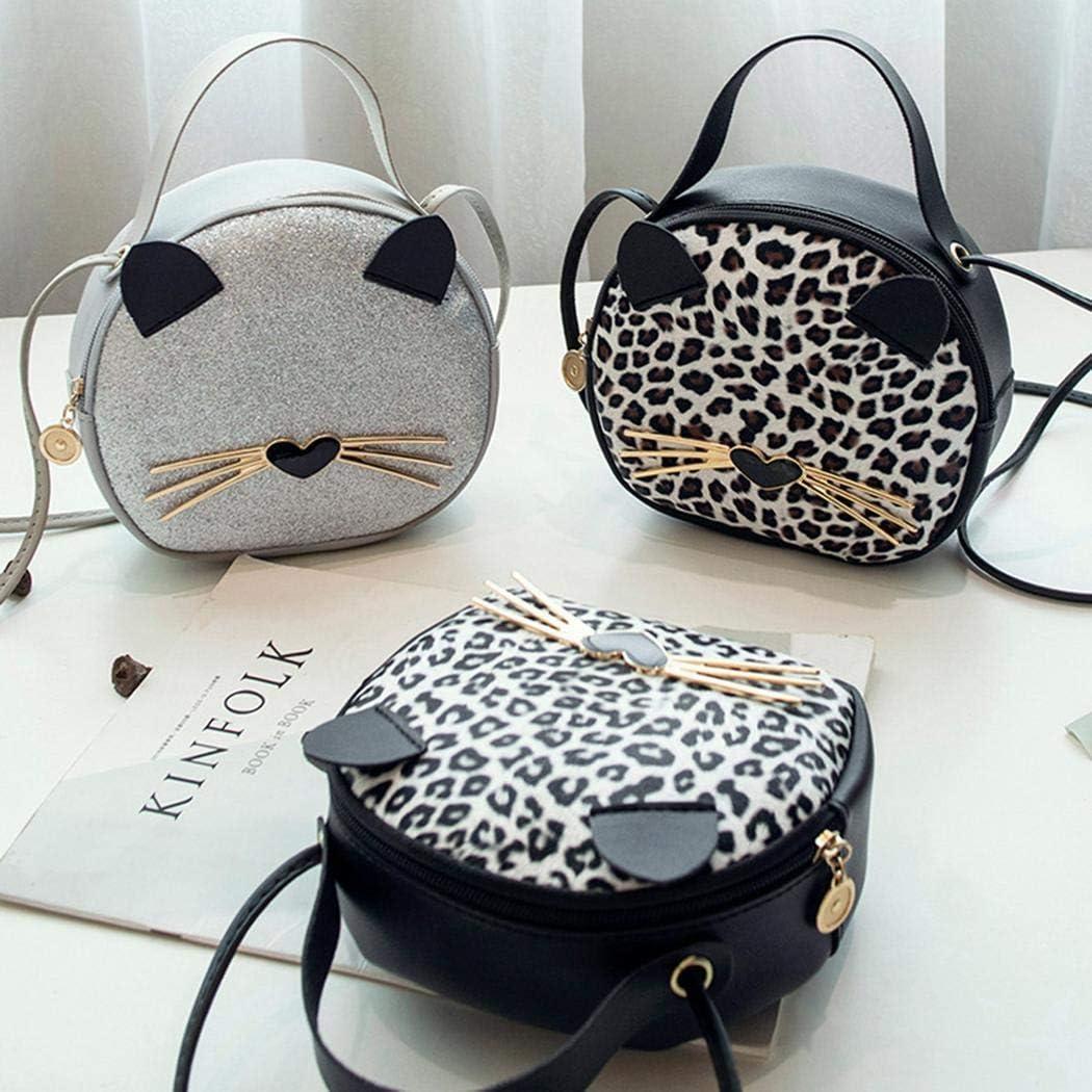 Dongtu New Fashion Women Cartoon Animal Leopard Shoulder Bag Tote Purse Shoulder Bags