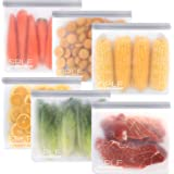 SPLF 6 Pack BPA FREE Reusable Gallon Freezer Bags, Extra Thick Reusable Storage Bags Leakproof Silicone and Plastic Free for