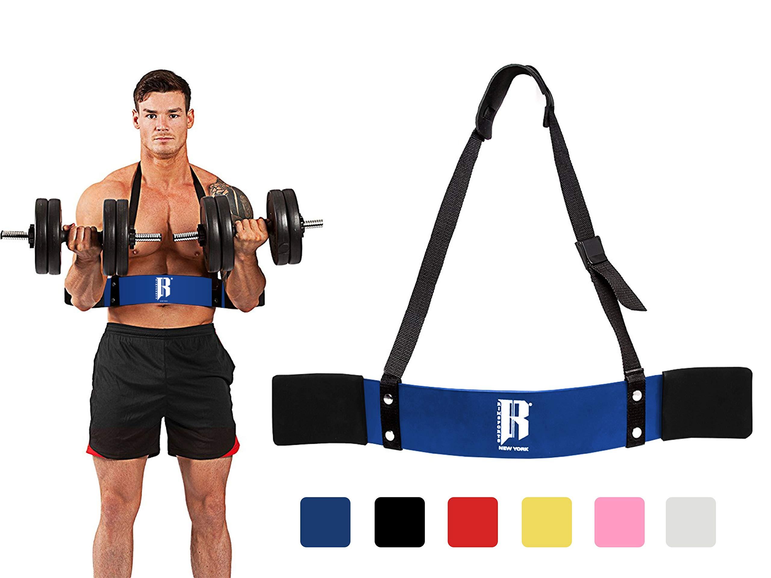 RIMSports Arm Blaster for Biceps Best Muscle Bicep Blaster for Bicep and Tricep Workout Ideal Biceps Isolator & Heavy Duty Elite Muscle Arm Blaster for Bodybuilders & Weightlifters (Blue)