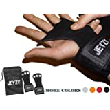 Leather gymnastics grips 3 hole hand grips with wrist support Palm Protection for pullups,Crossfit Training,weight lifting,barbells,chin ups,exercise,kettlebells,& more.