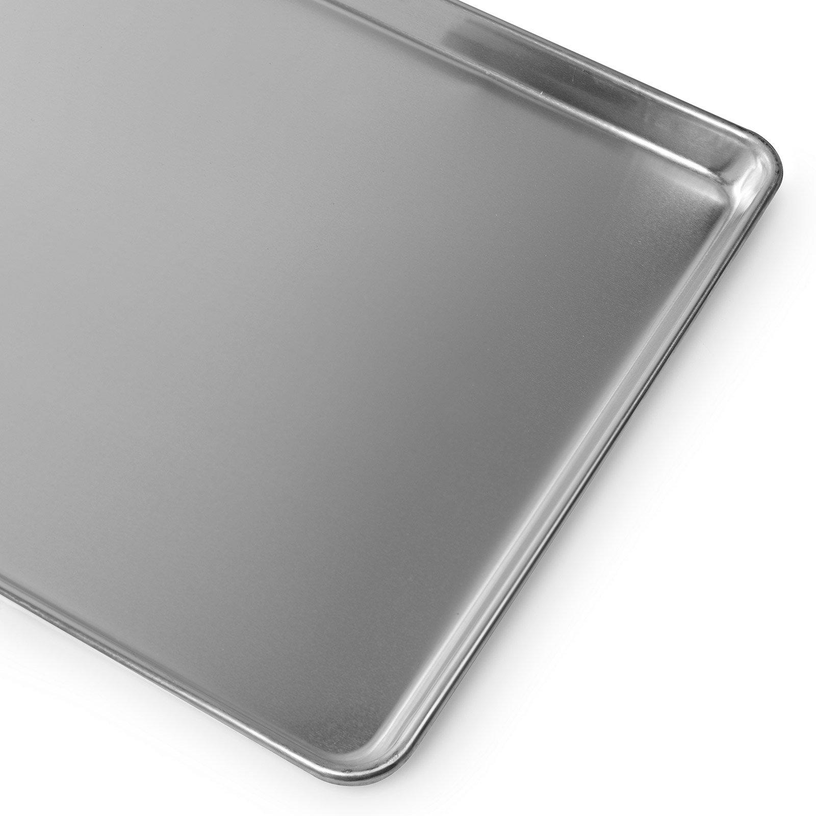Gridmann 18 x 26 Commercial Grade Aluminium Cookie Sheet Baking Tray Pan Full Sheet - 12 Pans by Gridmann (Image #6)