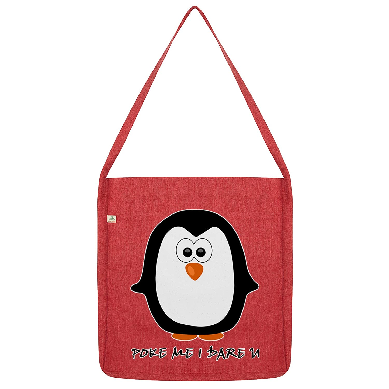 Twisted Envy Penguin Poke Me I Dare You Tote Bag