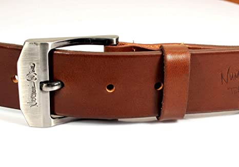 Mens Real Genuine Leather Belt Black Brown White 1.5 Wide S-XL Casual Jeans CU1