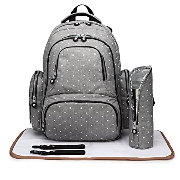 f4d182b42403f Kono Baby Changing Bag with Changing Mat Multifunctional Large Capacity Baby  Changing Backpack Mom Bag with