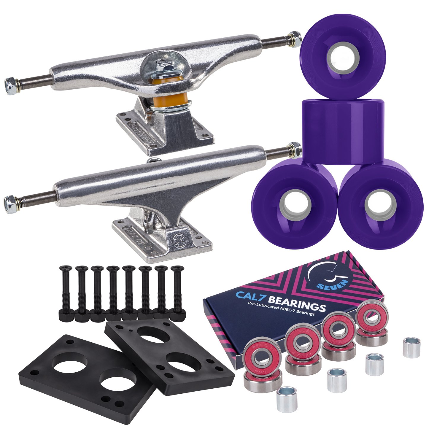 Independent Cal 7 Skateboard Combo Trucks with ABEC 7 65mm Wheels