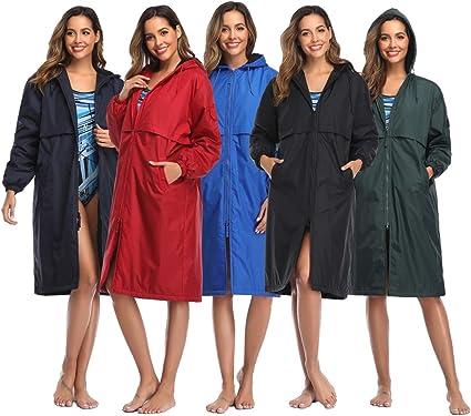Adoretex Unisex Adults /& Youth Swim Parka Water Resistant Warm Coat