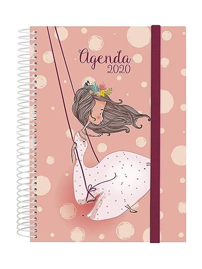 Finocam - Agenda 2020 1 día página Espiral Design Collection Romantic español