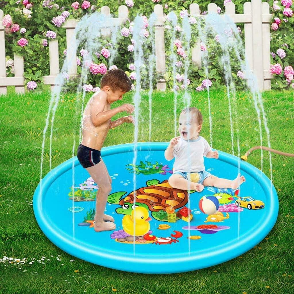 Adya Cojín de rociadores Splash Play Mat, PVC al Aire Libre para niños Juego de colchonetas de Agua Cojín de Playa Spray Inflable Cojín de Agua Juguetes: Amazon.es: Deportes y aire libre