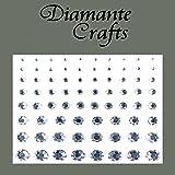 Diamante Craft SVA Jazzle Gems Self Adhesive Diamante Crafts 1to 8mm Transparent