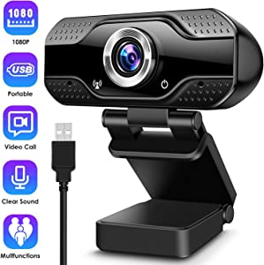 ARCBLD Video Calling Recording Conferencing Live Class Webcam,1080P Full HD Webcam USB Desktop & Laptop Webcam Live Streaming Webcam with Microphone Widescreen HD Video Webcam