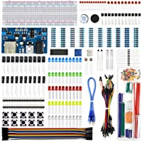RuiiGuu Electronics Component Fun Kit w/Module de Bloc d'alimentation, Jumper Wire, 830Systems Breadboard, potentiomètre de précision, résistance pour Arduino, Raspberry Pi, Stm32