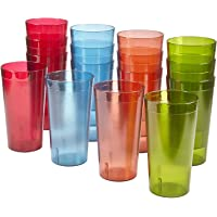 16-Piece US Acrylic Cafe Break-Resistant Plastic 20oz Restaurant-Quality Beverage Tumblers