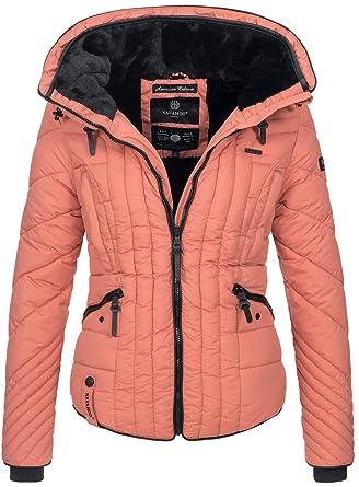 Navahoo Damen Winter Jacke Steppjacke Winterjacke Teddyfell warm kurz B634