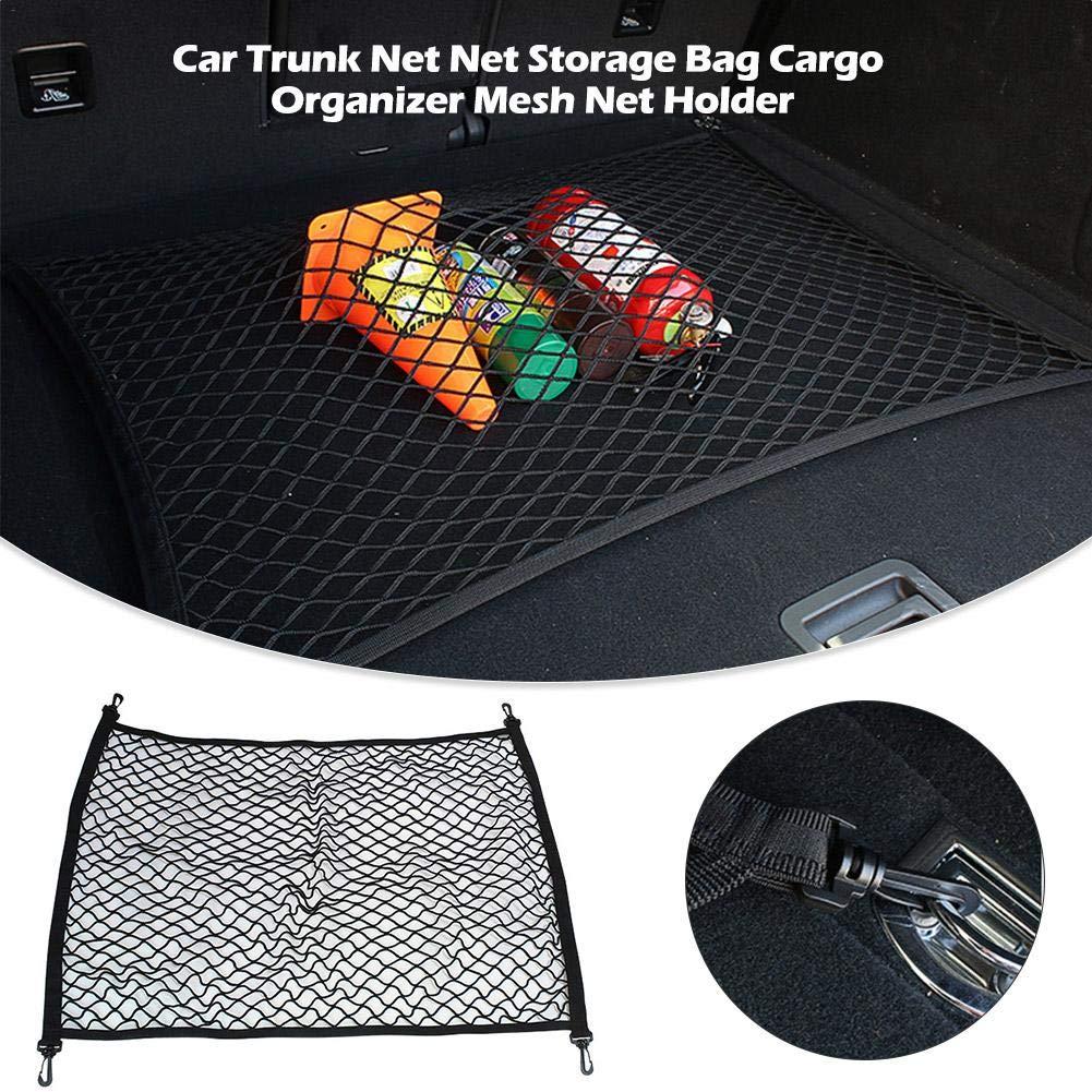 multifunzione rete di protezione per bagagliaio elasticizzata universale 60 x 80 cm rete di rinforzo Rete elastica per bagagli elastico per auto