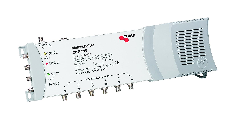 Triax CKR5x6 Multischalter (5 Eingä ngen, 6 Ausgä ngen) mit Netzteil Triax GmbH DE