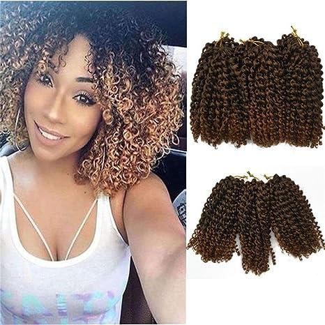 Amazoncom 6 Bundles Short Bob Crochet Hair Extension Kinky Curly