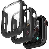 Jvchengxi (2 Stuks) Hard Case Compatibel met Apple Watch 44mm Series 6/5/4/SE Screenprotector, PC Bumper Slim HD Gehard…