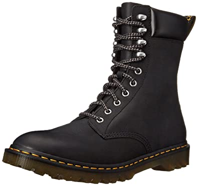 Dr Martens Mens Padten 10 Tie Padded Casual Boots Black Leather 4 M