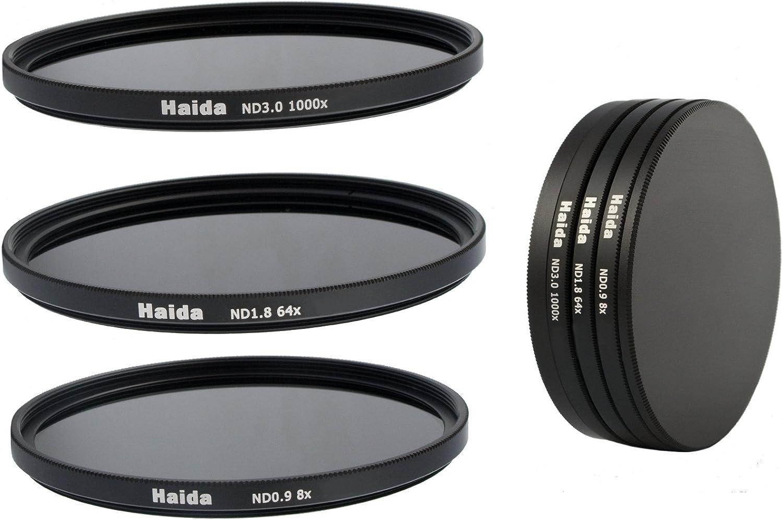 Pro-Photoshop - Juego de filtros de densidad neutra NDO, ND64 y N1000 (52mm, incluye estuche de protección y tapas): Amazon.es: Electrónica