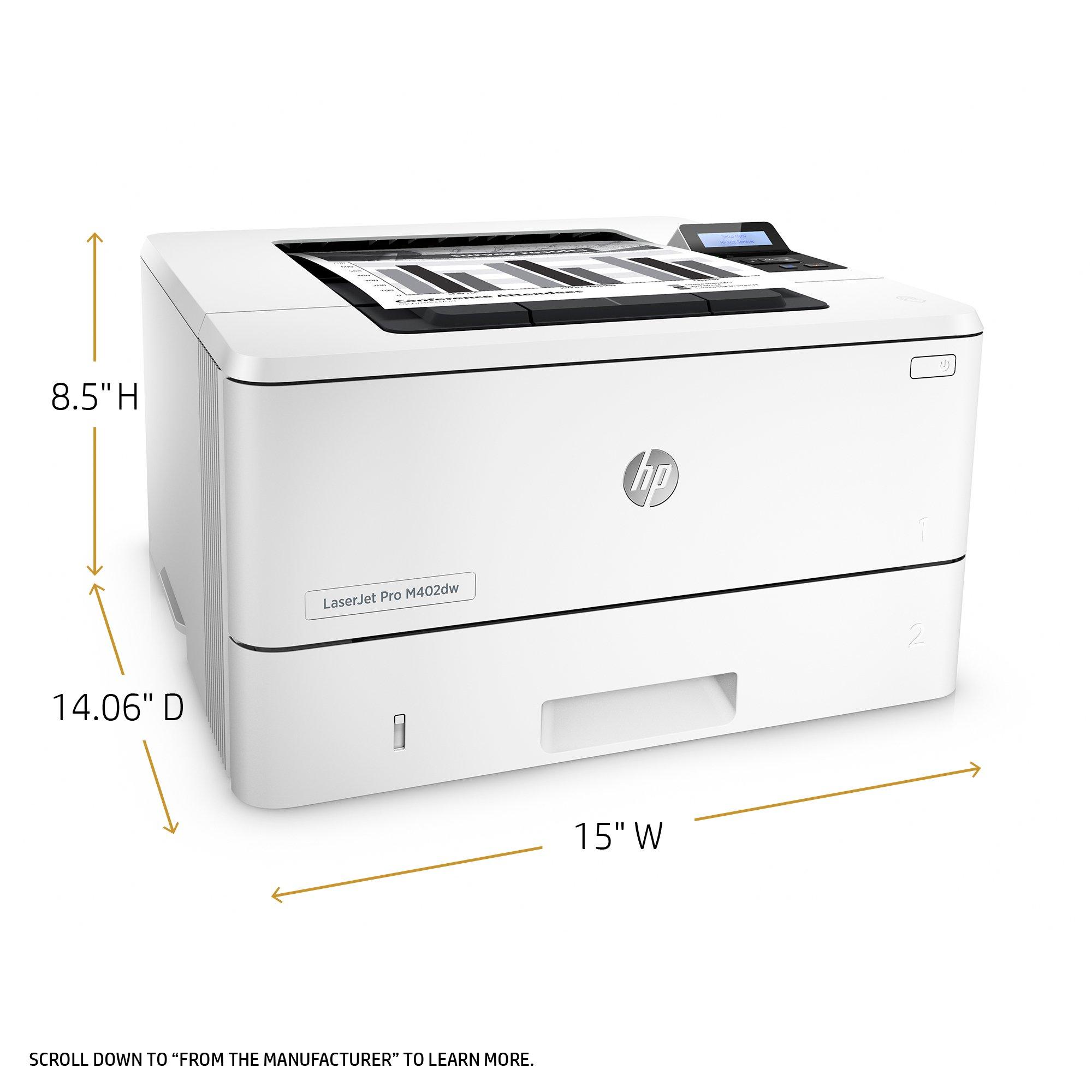 HP LaserJet Pro M402dw Wireless Monochrome Printer (C5F95A#BGJ) by HP (Image #3)