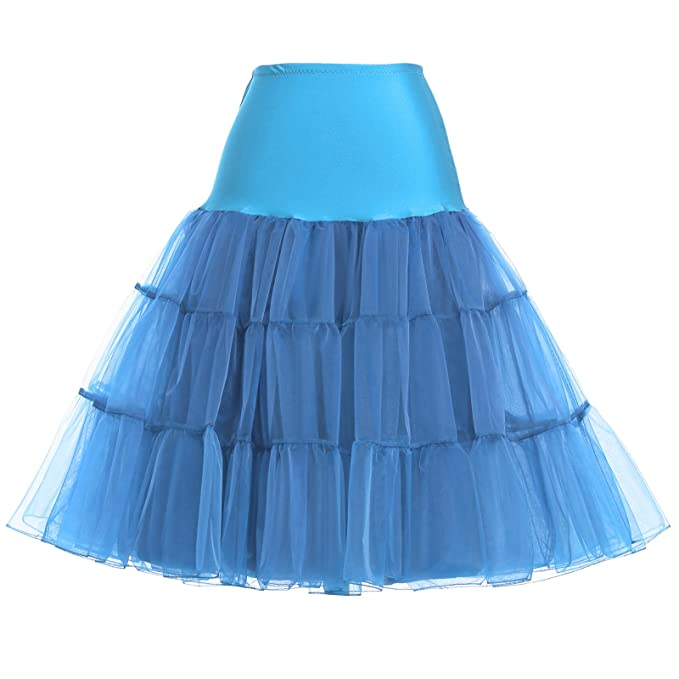 2d2a25920e GRACE KARIN 50s Petticoat Skirt Rockabilly Dress Crinoline ...