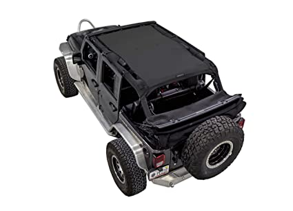 SPIDERWEBSHADE Jeep Wrangler Mesh Shade Top Sunshade UV Protection  Accessory USA Made With 5 Year Warranty
