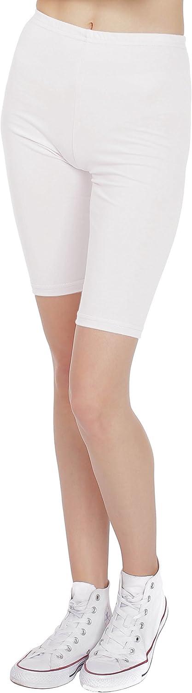 BeLady Pantalones Cortos de Mujer Polainas Leggings Ciclismo Algod/ón Opaco Longitud de la Rodilla 20 colores Tama/ños S-8XL