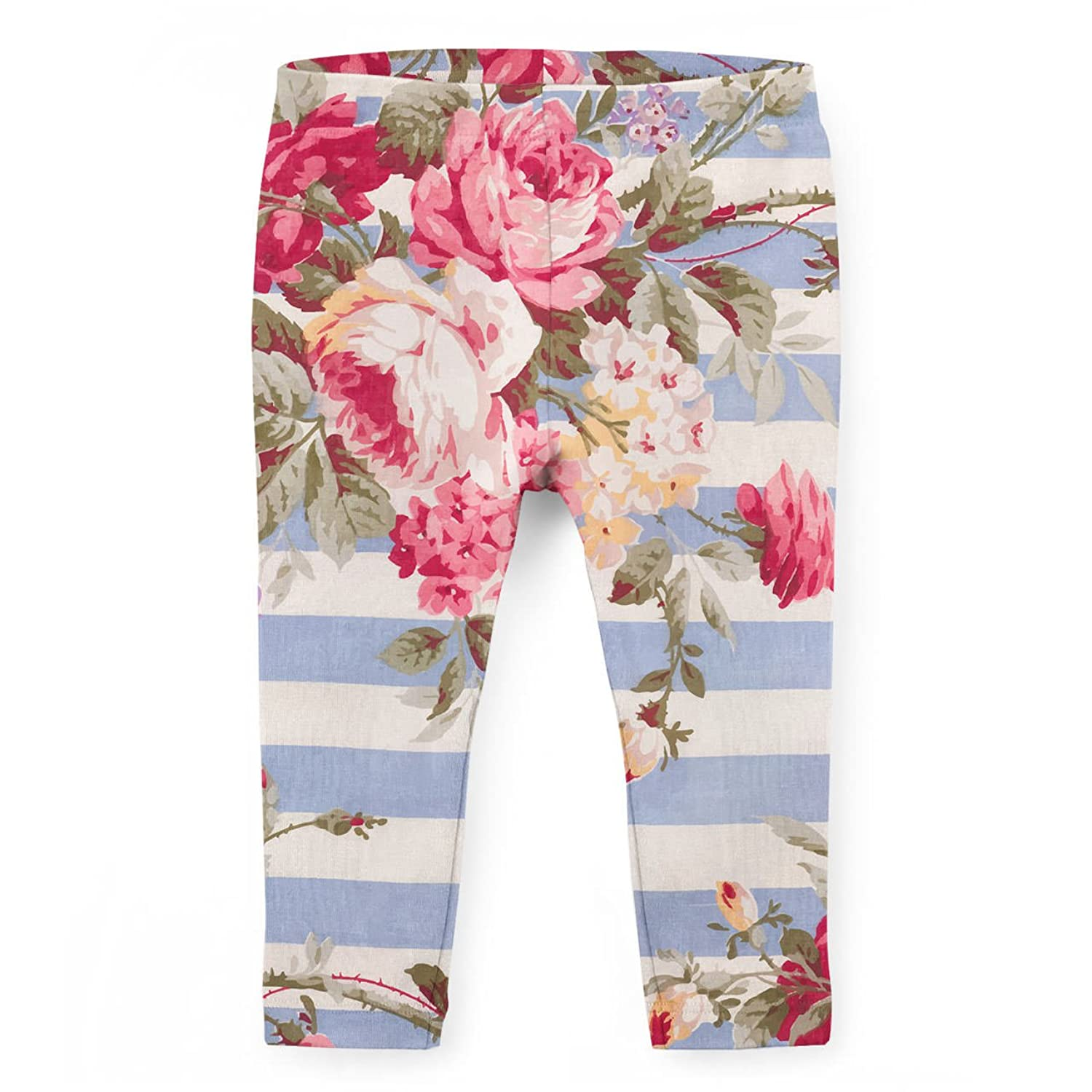 Antique Striped Floral Kids Leggings