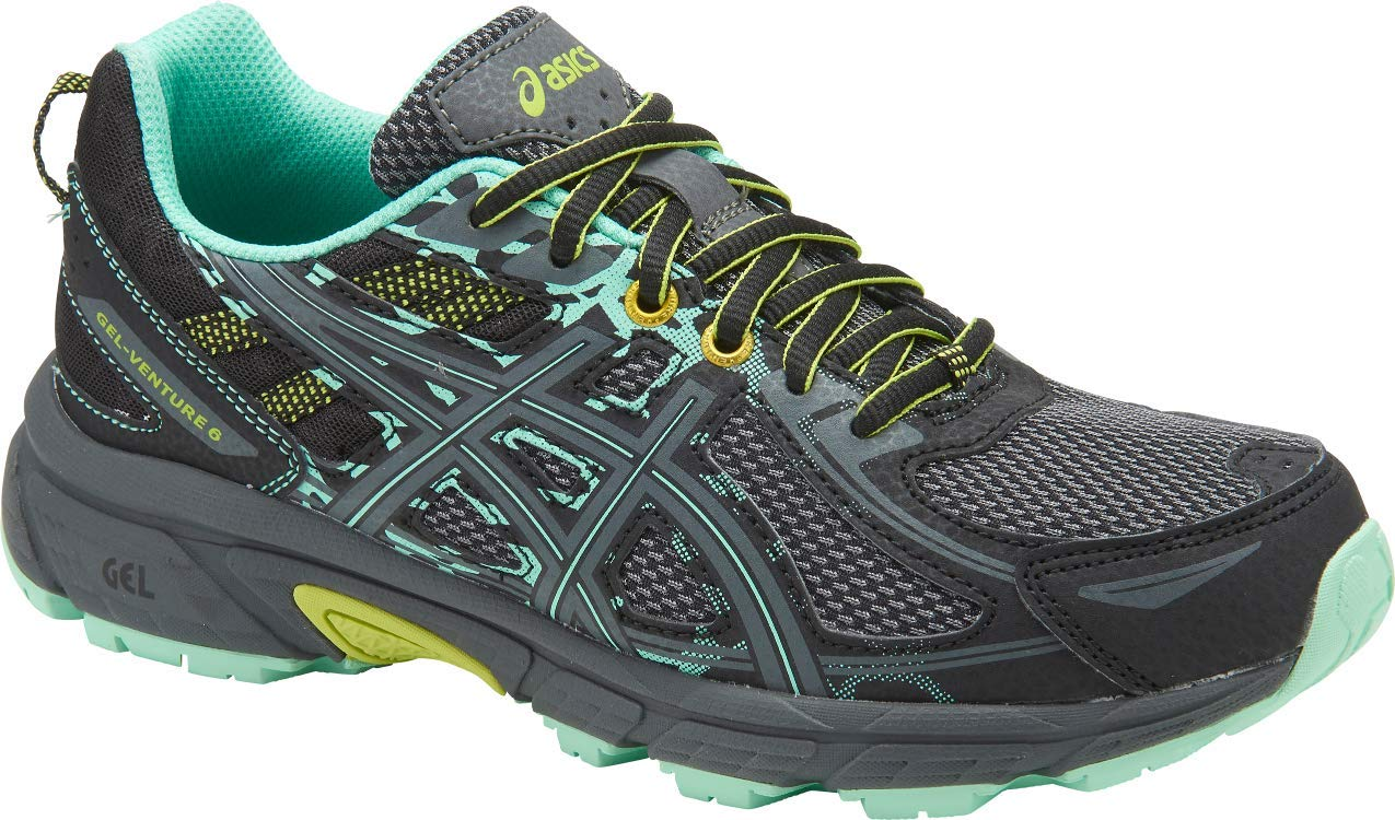 ASICS Gel-Venture 6 Women's Running Shoe, Black/Carbon/Neon Lime, 11 W US