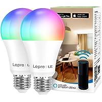 Lepro Slimme gloeilampen E27, Smart WiFi LED-lamp, 9W 806 LM WLAN dimbare lamp, meerkleurig, app-besturing, compatibel…